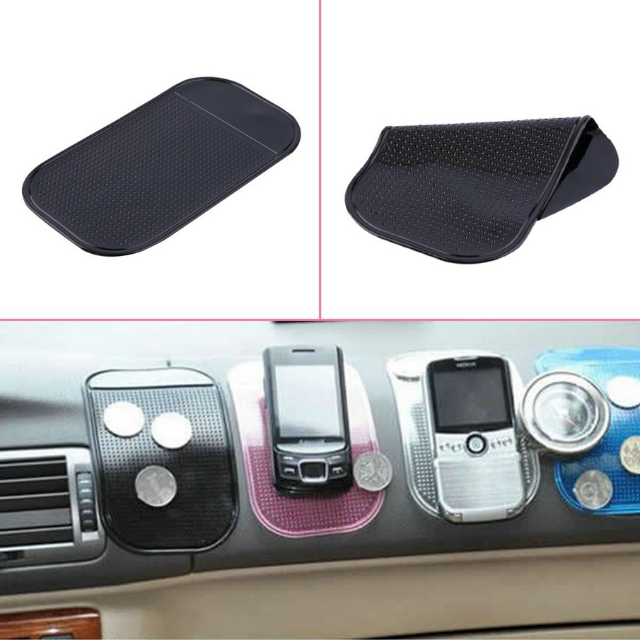 Silica Gel Magic Sticky Pad Anti-Slip Non Slip Mat for Car DVR GPS for iphone With Retail Packing car sticker/key mount holder(China (Mainland))