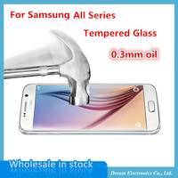 20pcs/lot Ultra-thin 0.3mm Tempered Glass Film For Samsung Galaxy S6 S5 S4 S3 A3 J5 G530 Screen Protector Arc Anti Shatter film