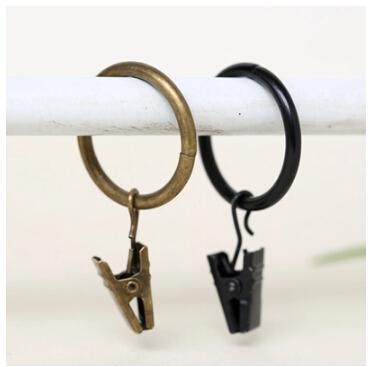 Curtain Rings Black. 12pcs Shower Curtain Rings Hooks Chrome ...