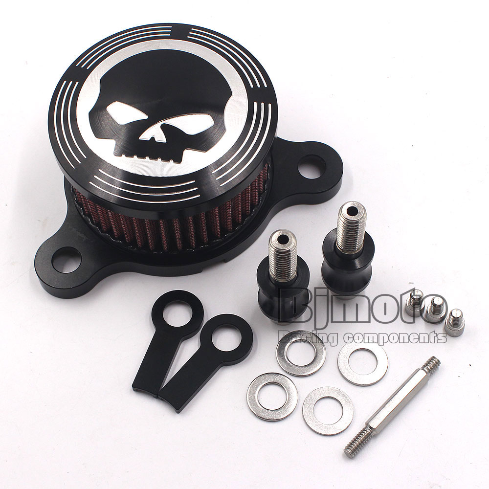 Motorcycle Skull Air Cleaner Intake Filter fit for Harley Davidson Sportster XL883 2004 - 2012 Year<br><br>Aliexpress