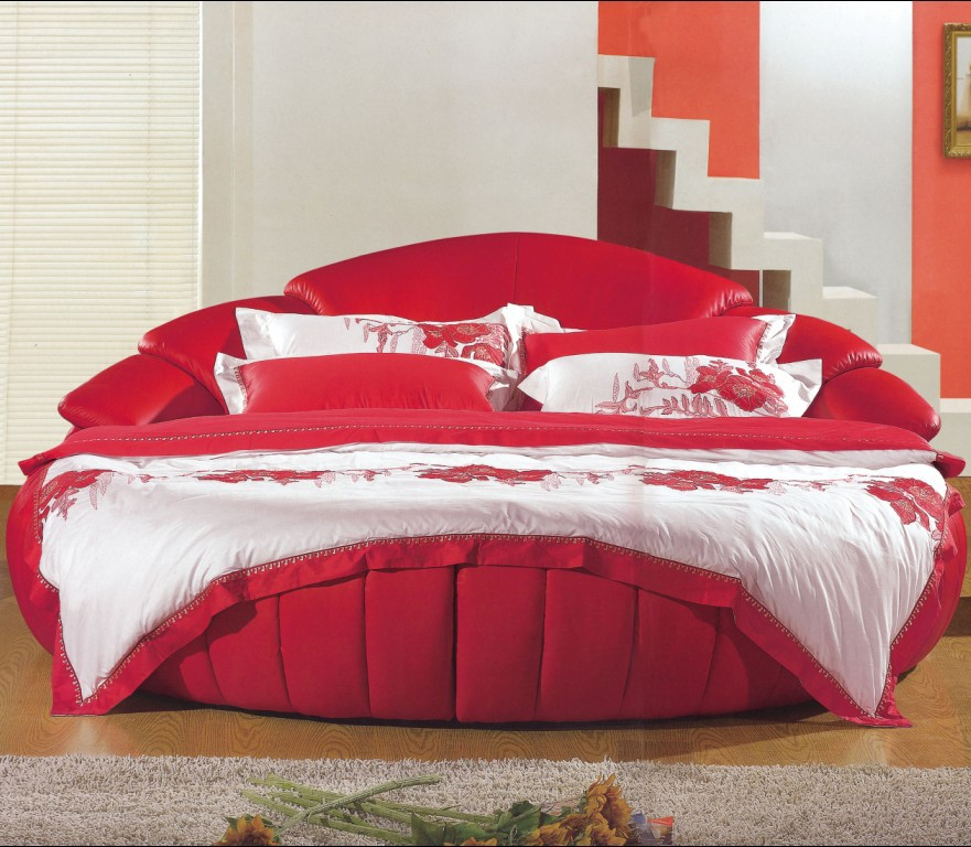The supply of wedding cloth round bed double bed hotel for Round double bed design