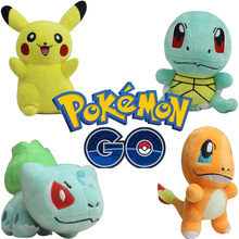 Hot Pokemon Pikachu/Charmander/Bulbasaur/Squirtle Plush Toys 15-25cm Kawaii Anime Peluche Toy Dolls for Baby Kids