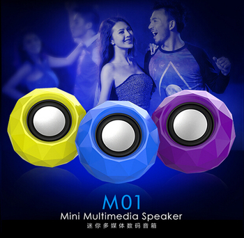 New Arrival Fashion Tribe M01 notebook desktop stereo speakers usb mini subwoofer speakers with light Free Shipping
