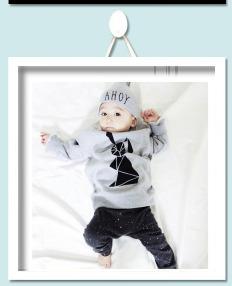 2016 The New Infant comfortable warm baby boy cotton suit newborn baby girl clothes 2pcs sest