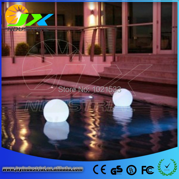 JXY Factory Wholesale PE material Diameter 20CM floating led light ball(China (Mainland))