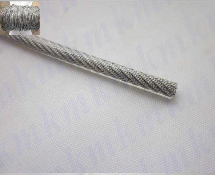 Wholesale 100M/Roll Overall Diameter 0.4MM PVC Plastic Coated Stainless Steel Wire Rope(0.3MM Wire Rope With 0.05MM Coating)(China (Mainland))