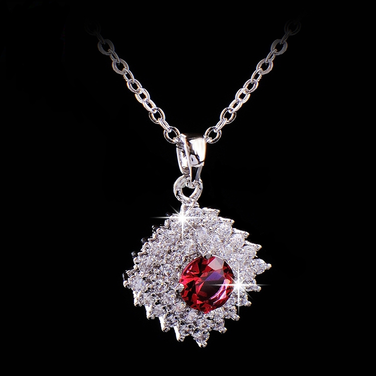 Women Jewellery Necklace Zircon Fashion Jewelry 18K white Gold Filled for Women Necklace(China (Mainland))