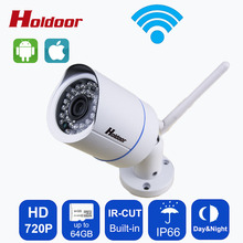 Buy Onvif 2.0.4 Security IP Camera wifi Outdoor 720P Waterproof IP66 Night Vision Network 1.0MP HD CCTV Camera Support 64G SD Card for $31.99 in AliExpress store