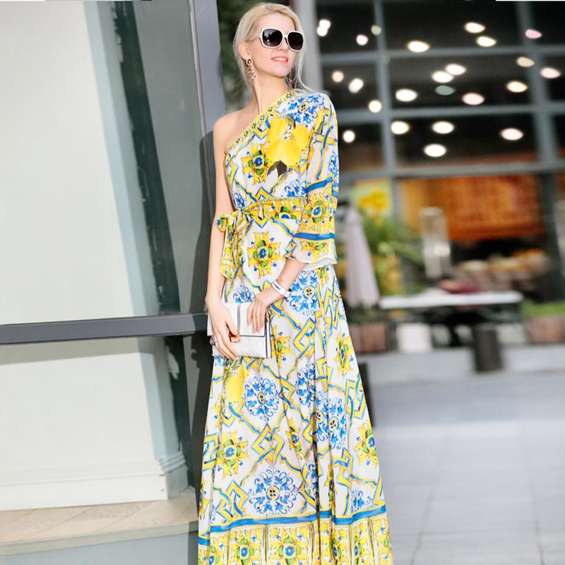 New Arrival 2016 spring summer runway brand high quality women dresses 11Одежда и ак�е��уары<br><br><br>Aliexpress