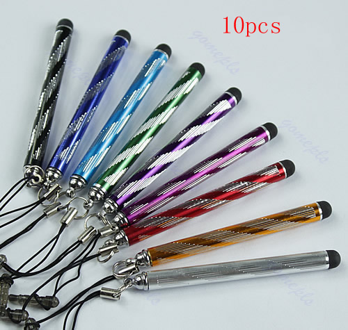 S103 Free Shipping 10pcs/lot New Mini Capacitive Stylus Touch Screen Pen For Cellphone