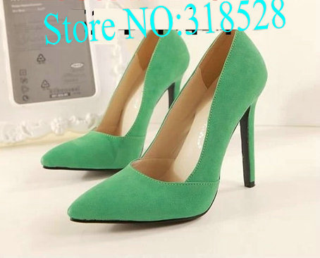 2014 spring pointed toe thin heels princess candy Green high heel women pumps - Fashion Shoes Bag Co., Ltd store