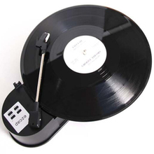 USB Mini Phonograph Vinyl Turntables Audio Player Turnplate Support Turntable Convert LP Record to CD or MP3 Function Converter