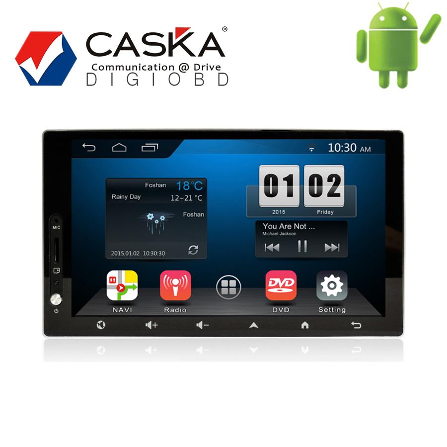 7'' 1024x600 CASKA 2 din in dash system Universal Android 4.4.2 Fits for All Car Models OEM standard GPS Navigation Multi-media(China (Mainland))