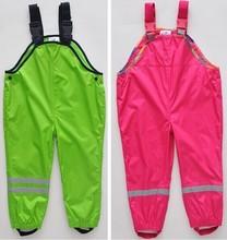 Topolino cold wind and waterproof brand boys and girls children pants overalls original single children's, children trousers(China (Mainland))