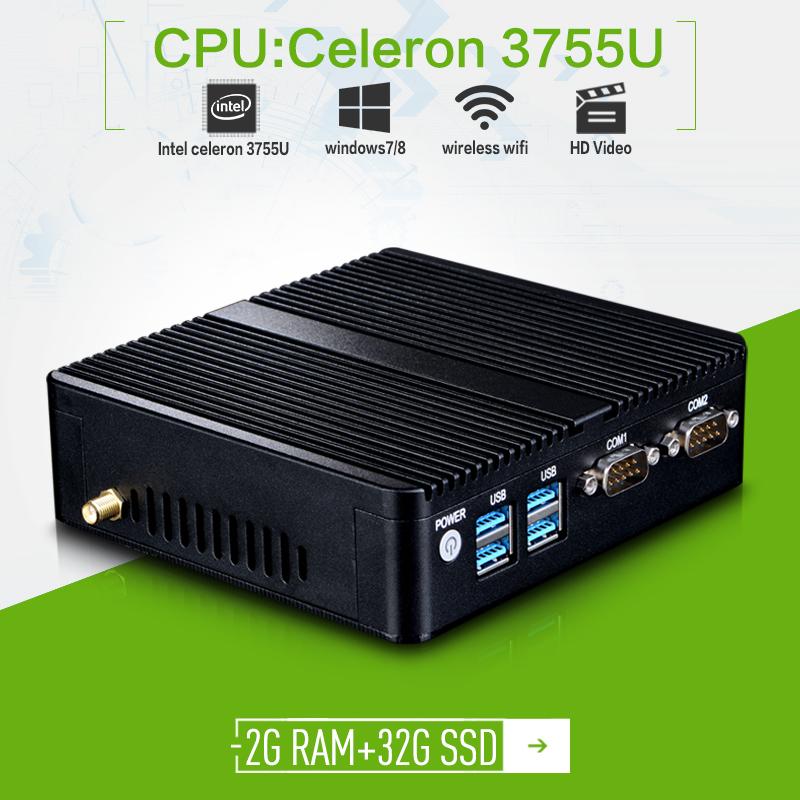 Hot on sale X30-3755U 2*lan 2*COM Mini PC VGA Business Mini PC Support VGA/HDMI With USB3.0 Industry PC(China (Mainland))