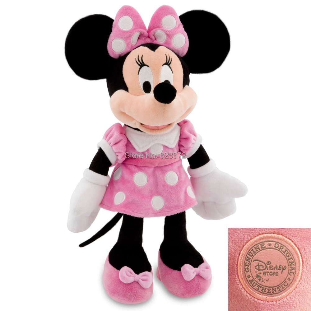 Original Minnie Mouse Toys Pelucia Minnie Pink Stuffed Toys 48cm 19inch Mickey Girlfriend Minnie Plush Toys for Children(China (Mainland))