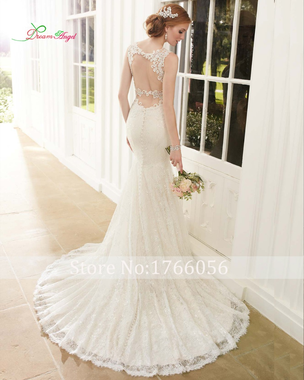 New designer sexy backless elegant v neck lace mermaid for Plus size wedding dresses with straps