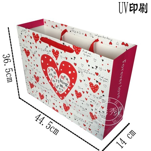 New hot love festival oversized gift bags wholesale clothes bag paper bag bag