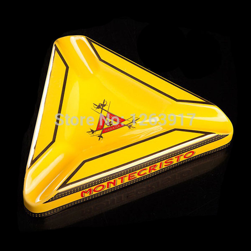 Free shipping Pocket ASHTRAY Montecristo cigar ashtray ceramic(China (Mainland))