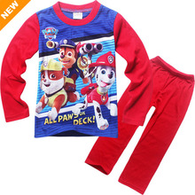 Hot Sale 3-8 Years Children's Pajamas Long Sleeve Clothing Set For Kids Boys Fashion Cartoon Patrol Home Wear Paw Pijamas PJS