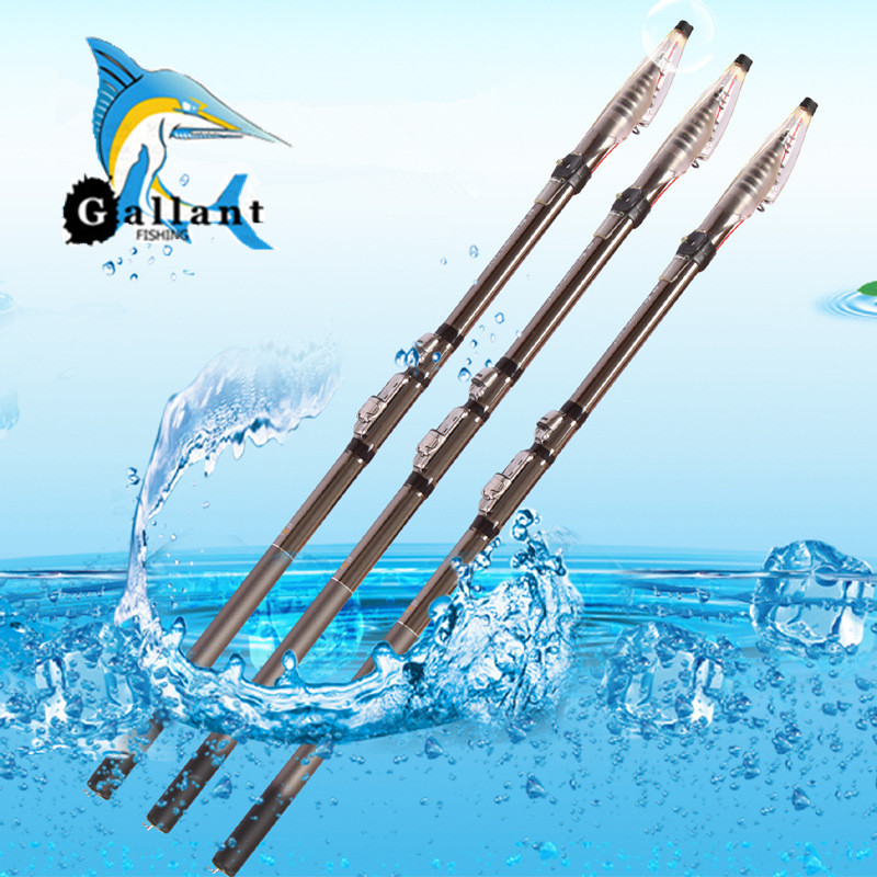 2 7 6 3 meter telescopic fishing rods carbon fishing for Rock fishing rigs