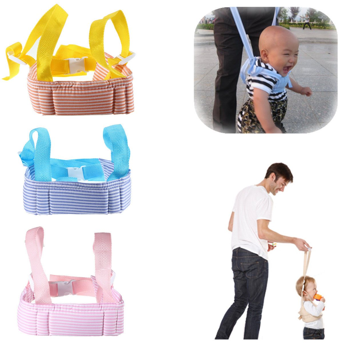 Portable Baby Toddler Walking Assistant Learning Walk Safety Reins Walker Wings Baby Kids Keeper Toddler Walking Safety Harness(China (Mainland))