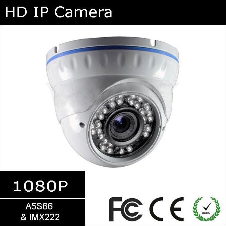 [#4106] Ambarella A5S66 & Sony 1/2.8'' 2.4MP IMX222, 1080P WDR Infrared Vandalproof Onvif H264 Varifocal Dome IP Camera(China (Mainland))