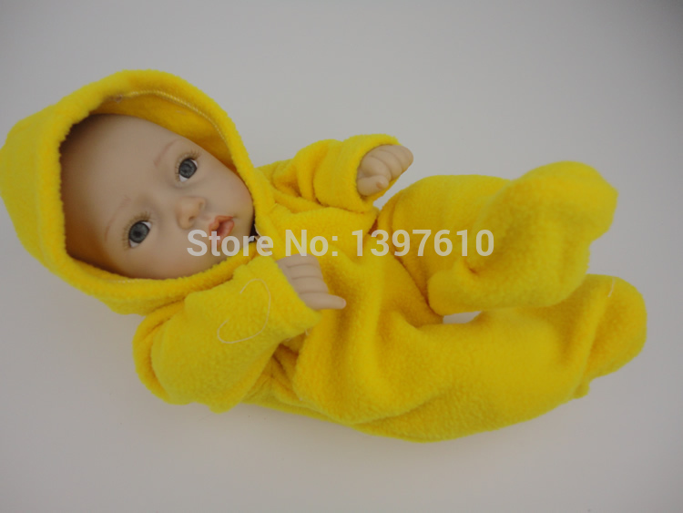Realistic Full Vinyl 12Inch Mini Reborn Baby Doll Lifelike Baby Alive Dolls Lifelike Baby Toys Wearing Hand-Knitted Clothes<br><br>Aliexpress