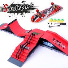 1pcs New Year Gifts , Ramps Park For Professional Mini Finger Skateboard Fingerboard Toy  for Children Juguetes Christmas Gifts(China (Mainland))