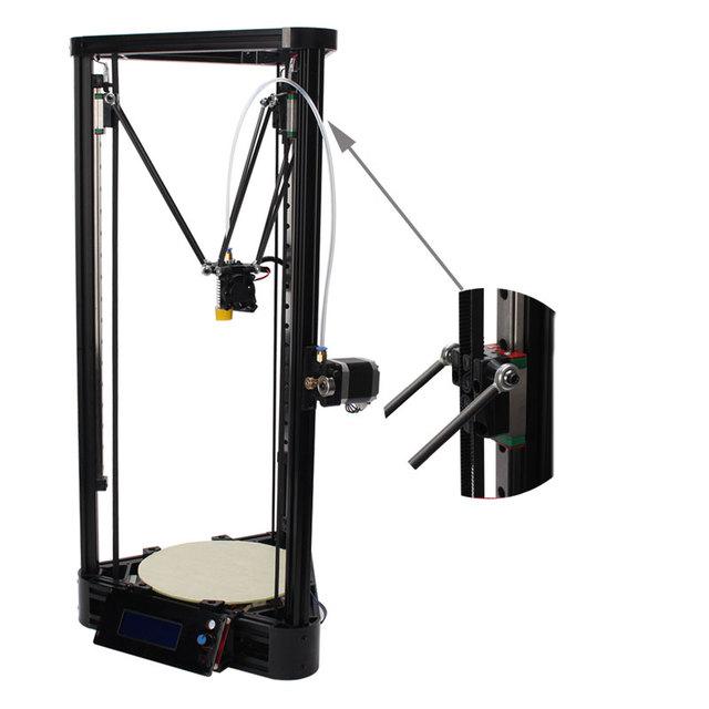 Большой размер Дельта 3d-принтер Коссель Линейный Руководство версия 3d-принтер DIY Kit impresora 3d С 2.0 Г SD Card 1 КГ Нити для бесплатно