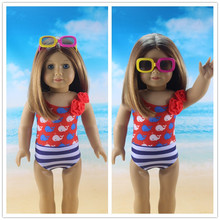 Hot selling popular 18 inch American girl doll clothes and accessories swimsuit Handmade suit dress b208(China (Mainland))