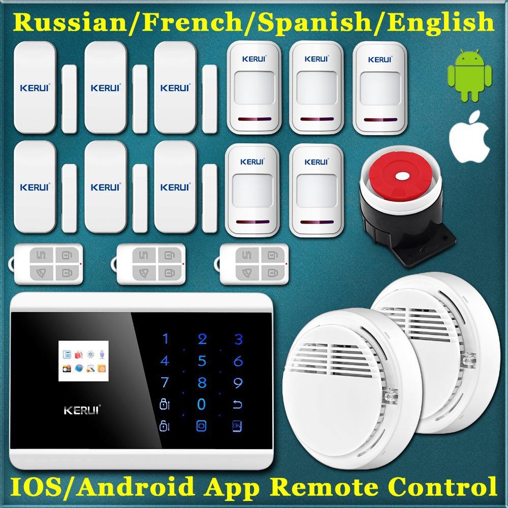 Гаджет  KERUI 433Mhz Wireless Smoke Alarm for home security, App Control GSM PSTN Alarm Systems Security Home None Безопасность и защита