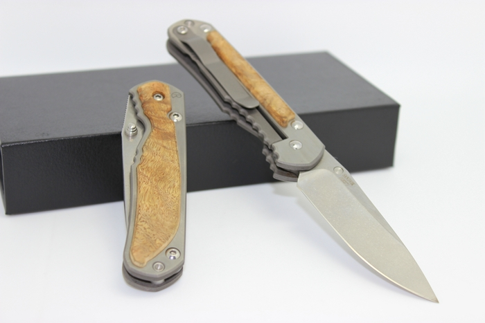 Free Shipping Chris Reeve Small Sebenza Titanium with Wood Inlay Handle D2 Steel Blade Folding Knife Survival Tactical Tools(China (Mainland))