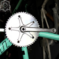 2015 newest road bicycle Single 48T sliver aluminum alloy CNC Retro closed Crankset Cranks Fixed Gear