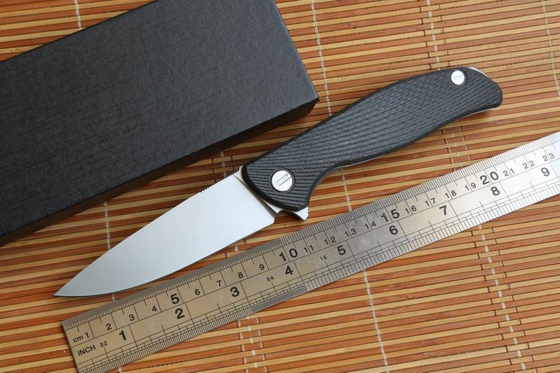 Green thorn 95CF 95 Hati ball bearing folding knife D2 blade carbon fiber Titanium handle outdoor camping EDC kitchen tools(China (Mainland))