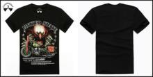 High Quality Black O Neck Short Sleeve Tops Tees Fashion 100 Cotton Casual Mens Printed Tshirts
