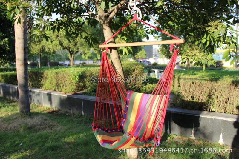 Outdoor hanging hammock colocful swing chair thicken canvas camping outdoor fashion new design rainbow color - Joe's Charm Shop store