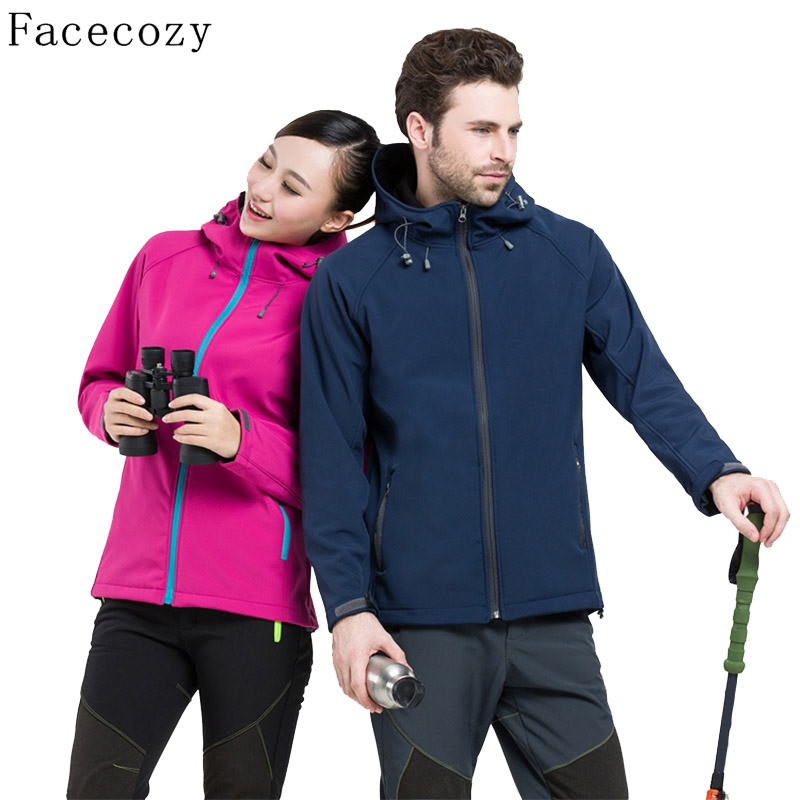Facecozy Women&amp;Men Spring Outdoor Windproof Camping&amp;Hiking Softshell Jacket Braethable Hooded Climbing&amp;Hunting Clothes <br><br>Aliexpress