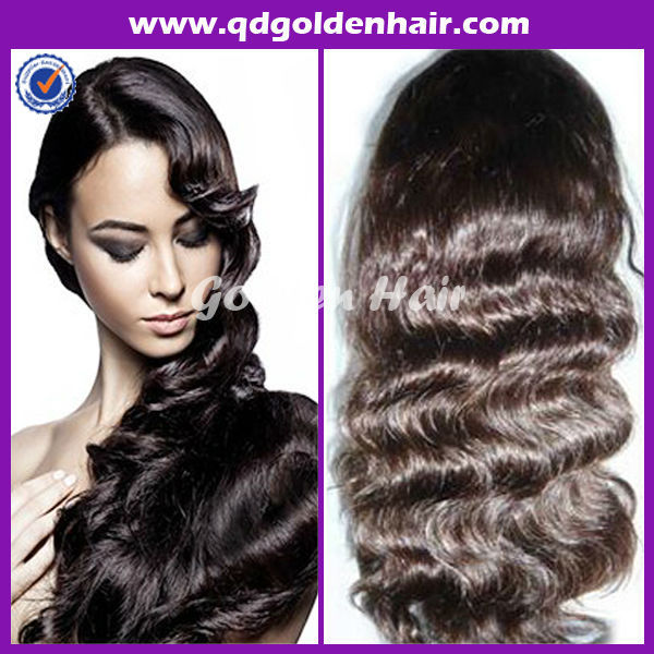 Free Shipping Stock Golden Hair New Year Products Hotselling Lace Front Wig For Women(China (Mainland))