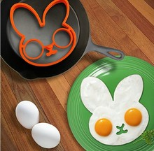 Free Shipping Rabbit Silicone Egg Mold Ring Cooking Tools Fried Egg Kitchen Gadgets Cheapest Price(China (Mainland))