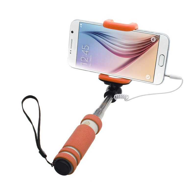 Hot sell Mini Wired Selfie Stick Xiaomi Yi Accessories Extendable Sefie Monopod for iPhone IOS for Samsung Android