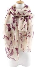 Wholesale New Fashion Women Butterfly Print Long Scarf Elegant Cotton Scarves Neck Wrap Stole Neckerchief 6