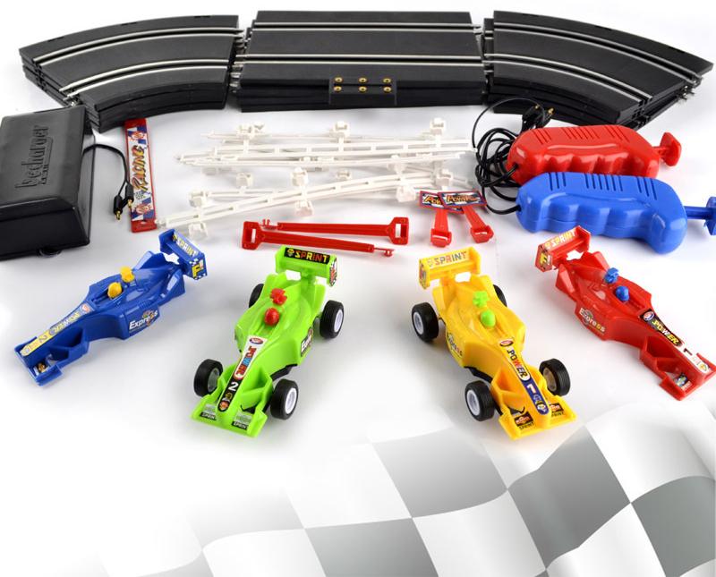 f coche de carreras de alta velocidad elctrica pista pista set ranura juego de carreras de coches rc juguetes nios regalos