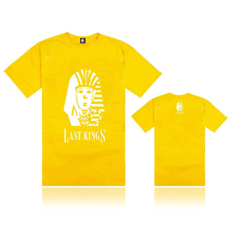 Summer men's clothing Last Kings white logo print t-shirt high quality hip hop lastkings tee & tops Size S-XXXL(China (Mainland))