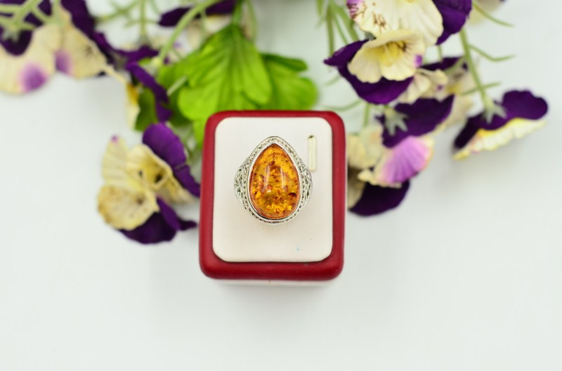 3pcs lot Size 8 9 10 Free Shipping 3 Colors Vintage Amber Silver Plated Retro Womens Mens Wedding Rings Wholesale Jewelry