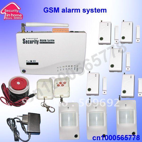 Wireless Home Security Alarm Gsm With 5pcs Window Door