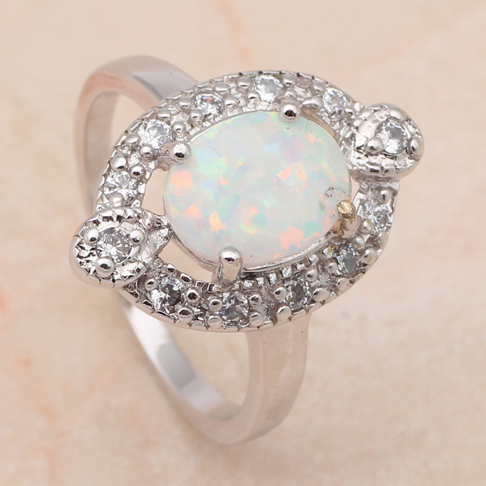 Royal Designer Wholesale & Retail Fire Opal 925 Silver Prom party fashion jewelry Rings USA size #6.5 OR468(China (Mainland))