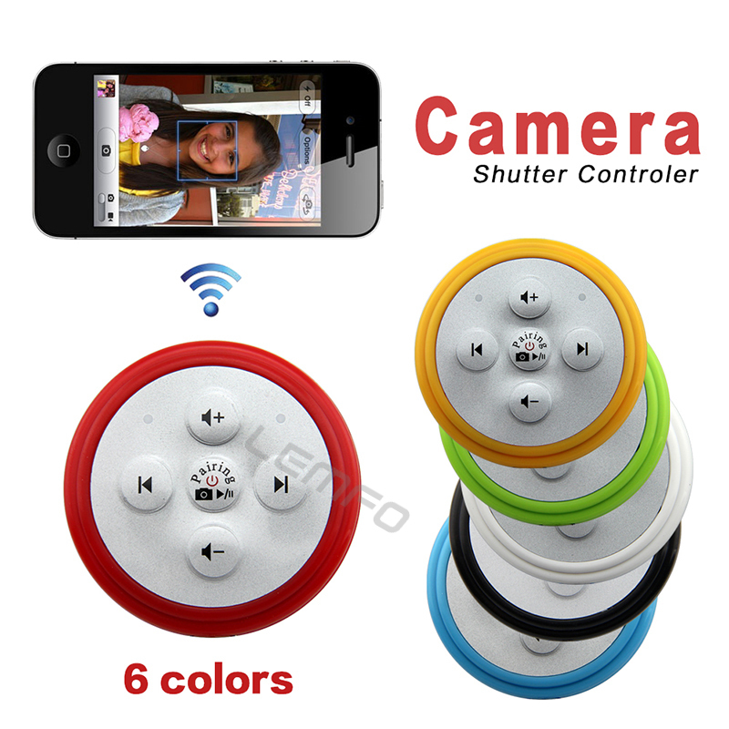 2 in 1 Camera Remote Shutter Music Player Shutter Wireless Bluetooth Self-timer Controller For iPhone 6 5 5S IOS Samsung Android(China (Mainland))