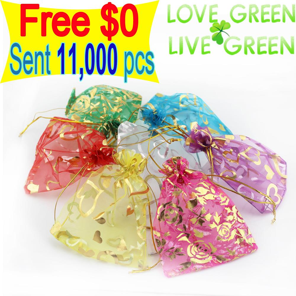 Get Gifts Factory Sales Lowest Price Jewelry Necklace Pendant Earrings Ring Bracelet Gift bags silk bag pounch packing 9x7cm(China (Mainland))