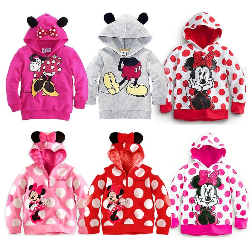 Kids Girls Boys Minnie Hoodies Autumn Spring Long Sleeves - A&J Design store